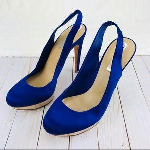 BCbGMAXARIZA Blue Platform Heels Sz 10b